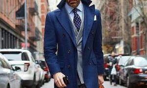 Wearing Coat on a Suit