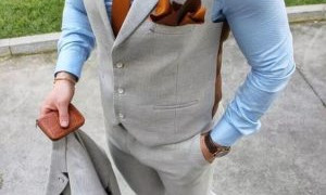 Vests on Suit Wearing