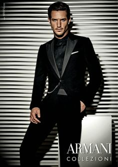 Armani Collezioni black suits for men