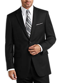Black Pinstripe Modern Fit Suit