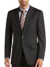 Calvin Klein Black Pinstripe Slim Fit Suit