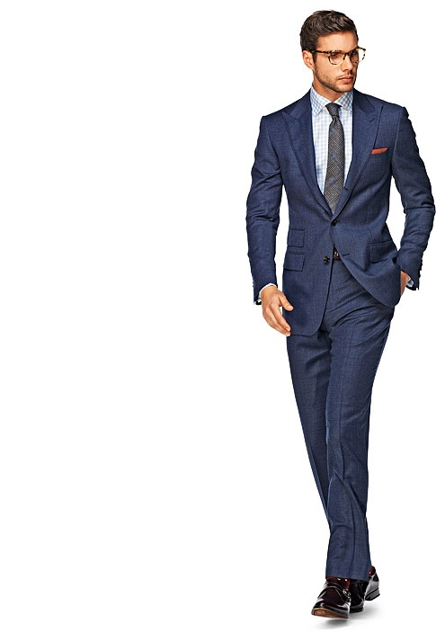 Dark Blue Plain Suit