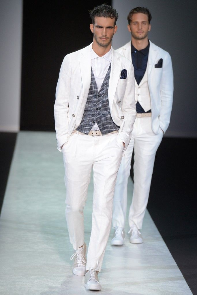 Giorgio Armani Men's White Suits