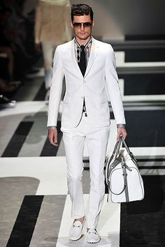 Gucci white men suits