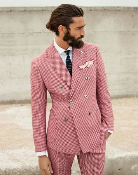 Italian Cut Pink Men S Suit Mens Suits Tips