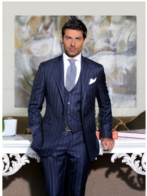 Italian Cutting Dark Blue Men's Suits
