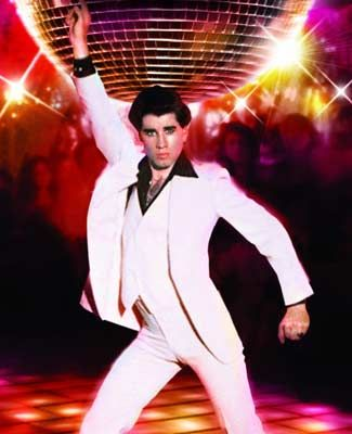 John Travolta dancing in Saturday night fever