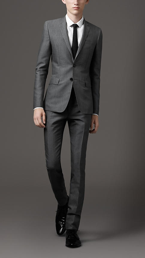 Slim Fit Wool Suit by Burberry