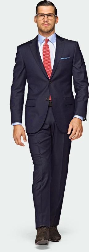 Two button dark blue suit