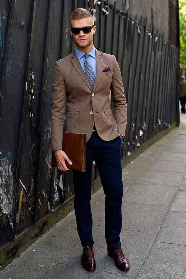 Street Style Men Suit Mens Suits Tips