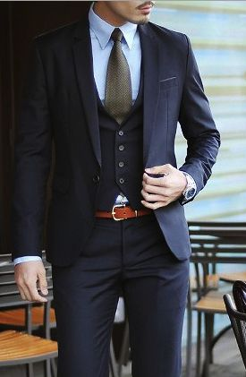 three-piece men suit