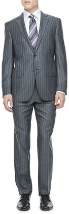 vertical striped men's suit