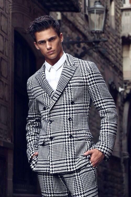 Men Windowpane Suits(12) | Mens Suits Tips