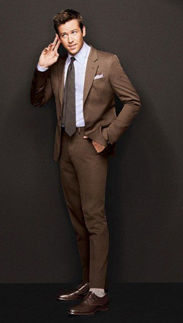 Brown Suit - Mens Suits Tips
