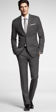 Men's Charcoal gray suit is suitable for many occasions, It is the best with patterns, start with plain, and move to window-pane. Charcoal Gray Suit is a great piece to have in any professional man's wardrobe.