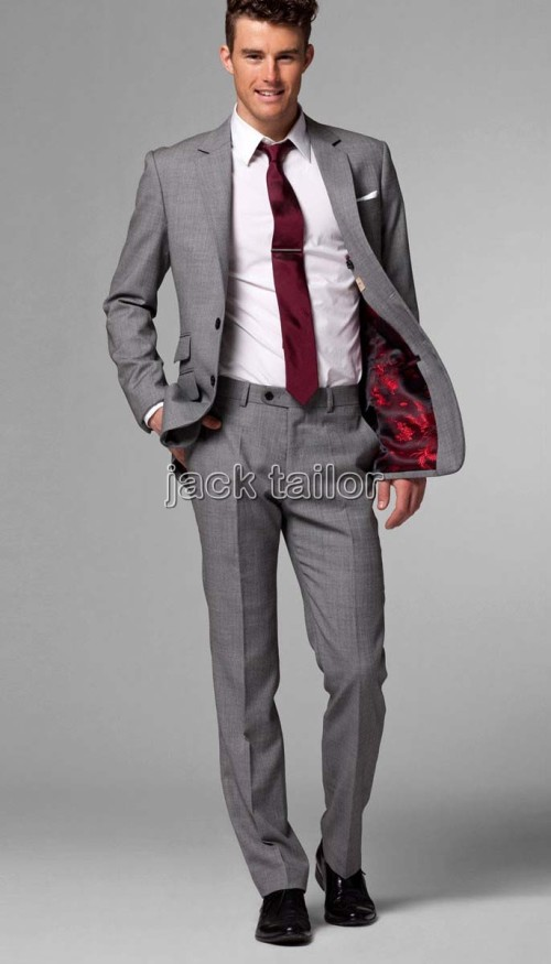 Light Grey Men Suit Mens Suits Tips