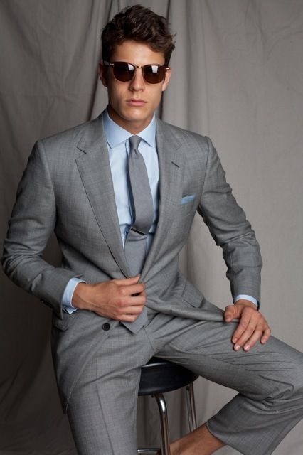 A stylish and versatile suit great for any occasion. This will soon become a closet favorite featuring a two button tailored fit, notch lapels, fully lined jacket, side vents, soft shoulder construction and flat front pants lined to the knee.