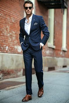 Navy Blue Men Suits - Mens Suits Tips