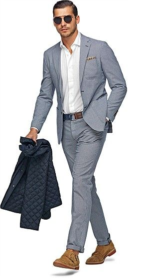 Mens Cotton Suit Dress Yy