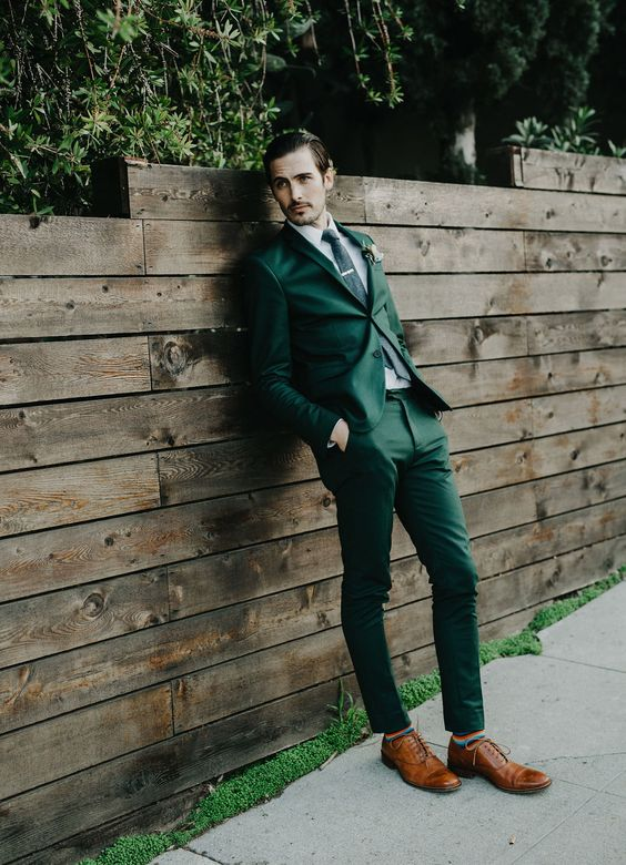 Green Men Suits - Mens Suits Tips