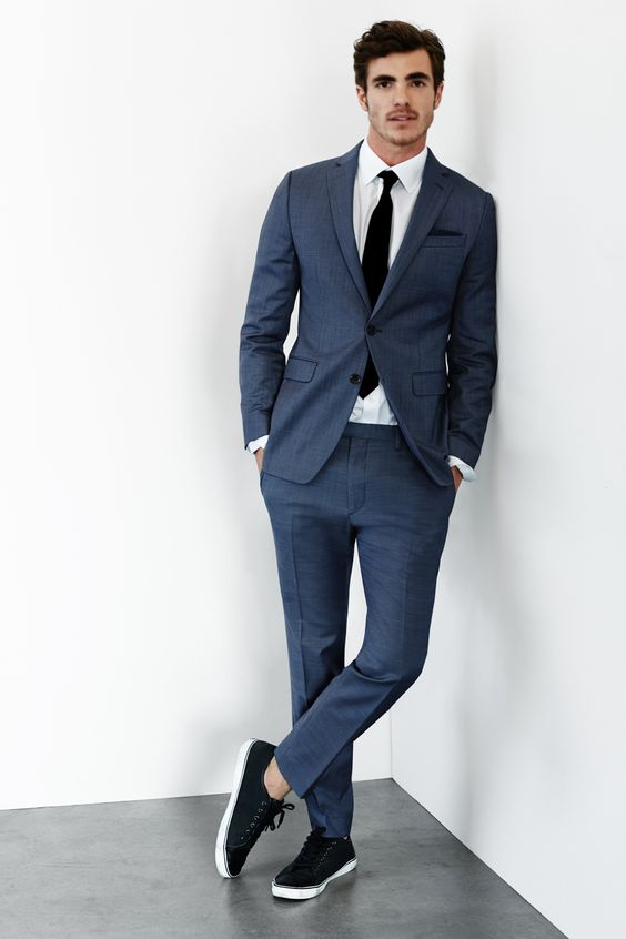 Men Suit With Sneakers Mens Suits Tips