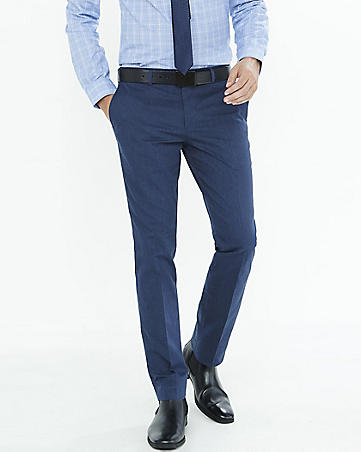 No break blue suit pants | Mens Suits Tips