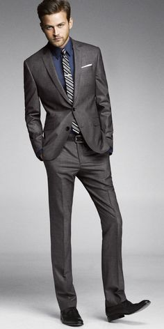 Charcoal grey tailored men suit | Mens Suits Tips