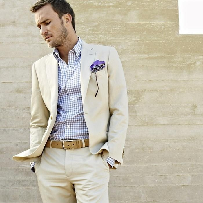 Grey linen suit | Mens Suits Tips