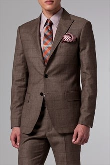 Dark brown plaid suit | Mens Suits Tips
