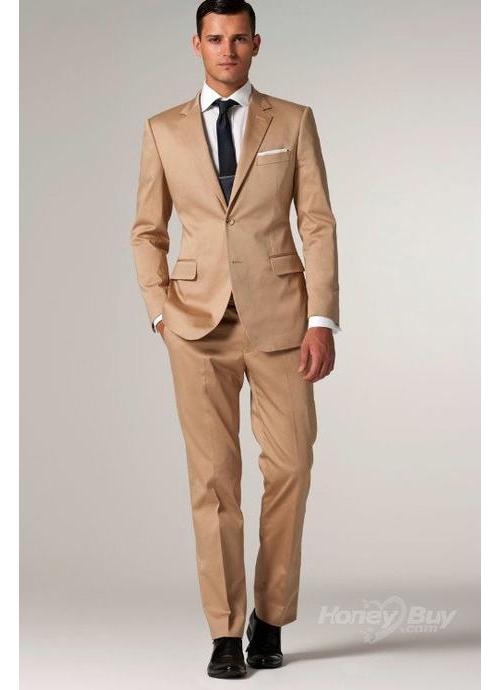 Single breasted light brown men suit | Mens Suits Tips