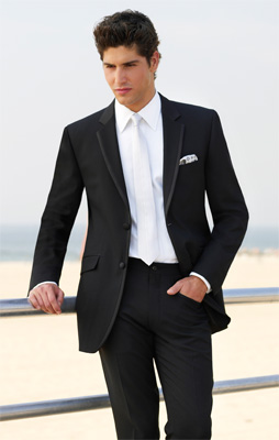 Black suit with white tie | Mens Suits Tips