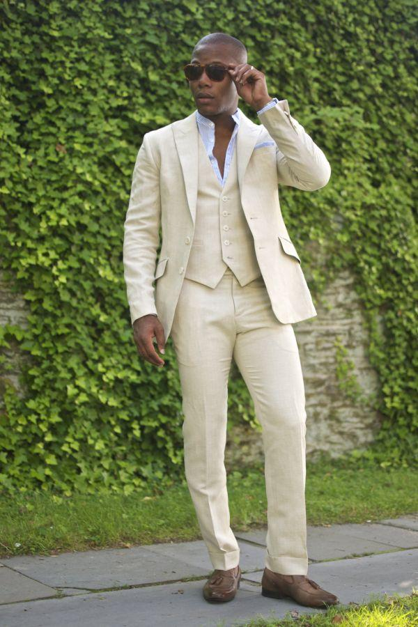 Champagne linen men suit | Mens Suits Tips