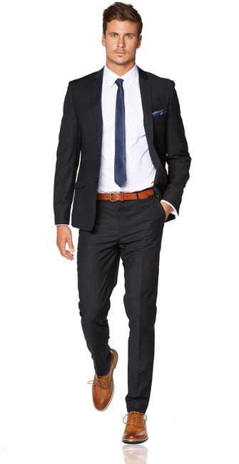 Navy skinny suit | Mens Suits Tips
