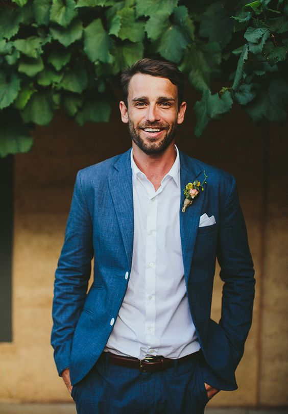 Navy blue groom suit | Mens Suits Tips