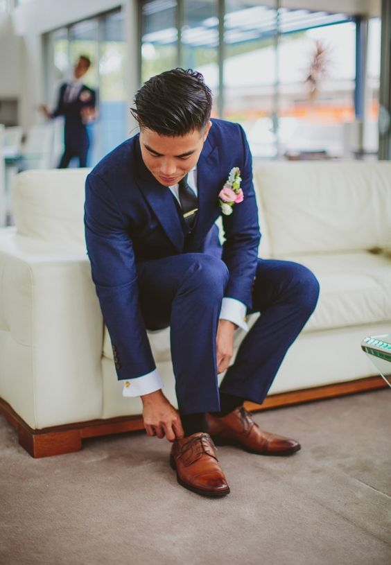 Navy blue men wedding suit | Mens Suits Tips