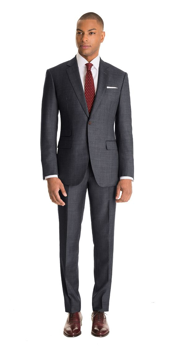 Gray sharkskin custom suit