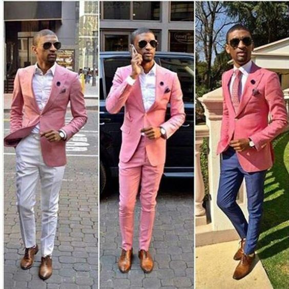 Pink Men Suits Pink Fashion In Men Suits Wearing